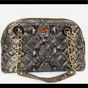 Kate Spade snakeskin Maryann shoulder bag purse